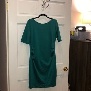 Emerald  green maternity dress